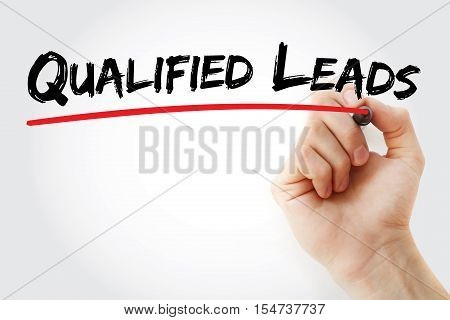 Hand Writing Qualified Leads With Marker