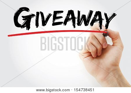 Hand Writing Giveaway With Marker