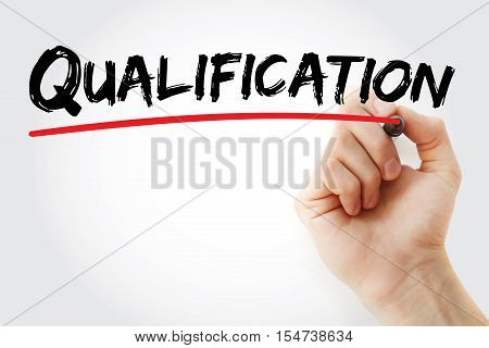 Hand Writing Qualification With Marker