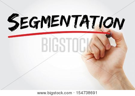 Hand Writing Segmentation With Marker