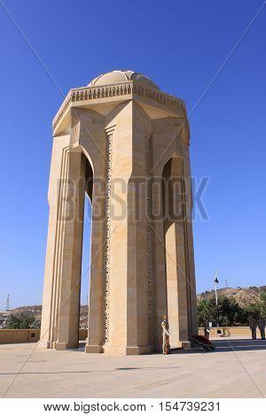 The Martyrs' Monument and Alley, Baku, Azerbaijan