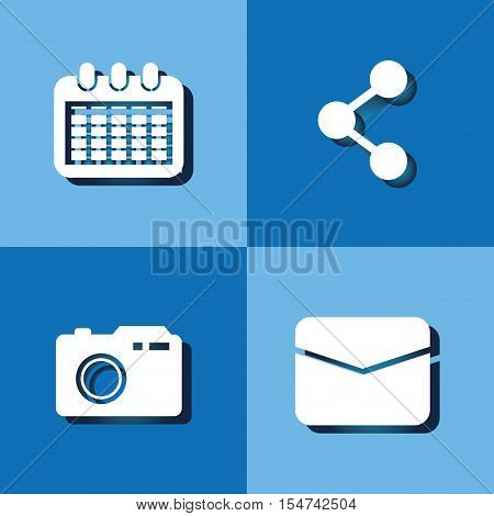 Social media networking icon vector illustration graphic design