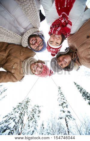 People in winterwear