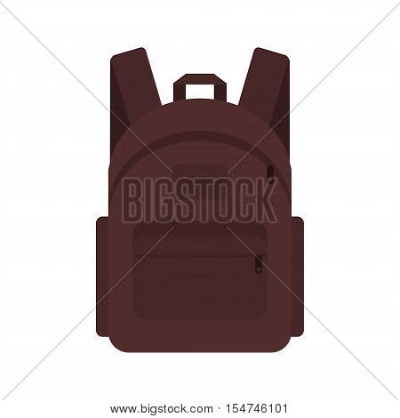Backpack traveler marching backpack student briefcase. Vector backpack travel baggage voyage schoolbag. Trip backpack suitcase tourism journey bag pack vacation packing case sack rucksack haversack.