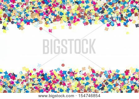 Colorful Confetti In Broad Bordure
