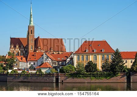 Tumski island in Wroclaw, Poland, Eastern Europe