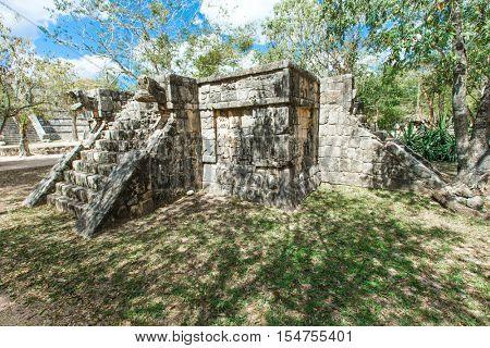 Kukulkan Pyramid in Chichen Itza Site, Mexico