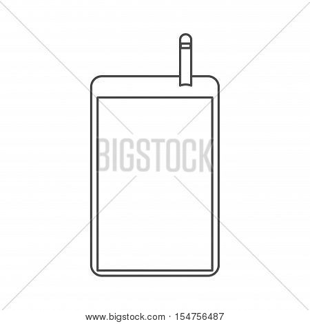 Machine of probe icon. Medical and health care theme. Isolated design. Vector illustration