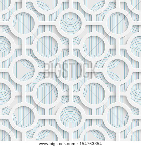 Seamless Origami Pattern. 3d Modern Lattice Background. Decorative Minimalistic Tile Wallpaper. Delicate Wrapping Paper Design