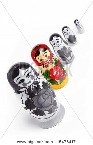 Matrioshka doll. individuality concept