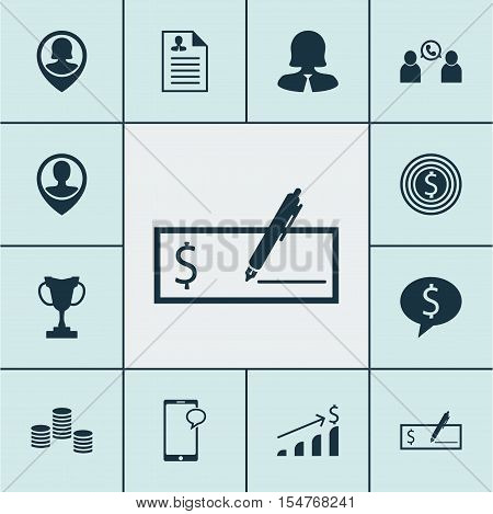 Set Of Hr Icons On Tournament, Money And Business Goal Topics. Editable Vector Illustration. Include