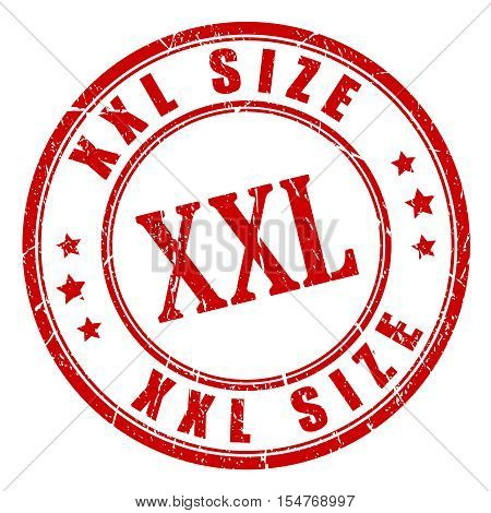 Xxl big size stamp vector illustration isolated on white background