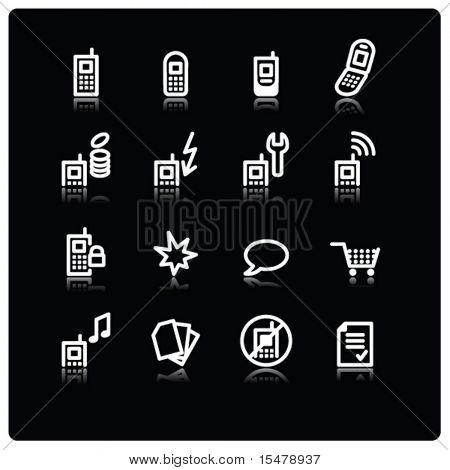 iconos de blanco móvil