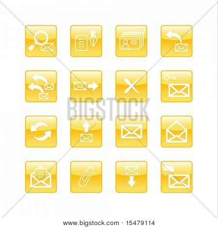 orange aqua e-mail icons (raster)
