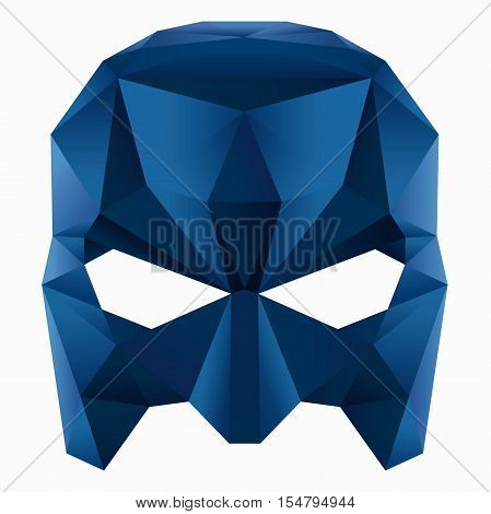 Vector image of a blue engry mask superhero
