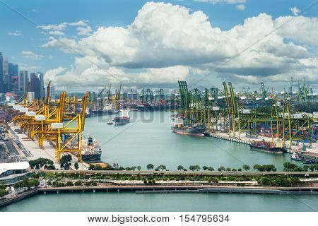 Singapore cargo terminalone of the busiest Import Export Logistics ports in the world Singapore.