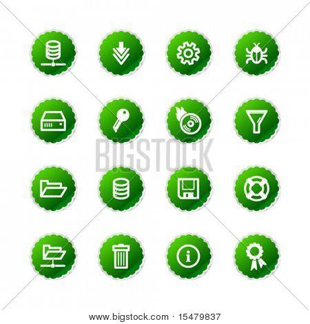 green sticker server icons