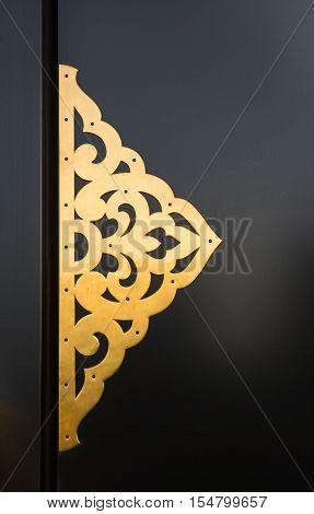 Senso-Ji temple door gold pattern, Japanese ancient , asakusa, tokyo, Japan