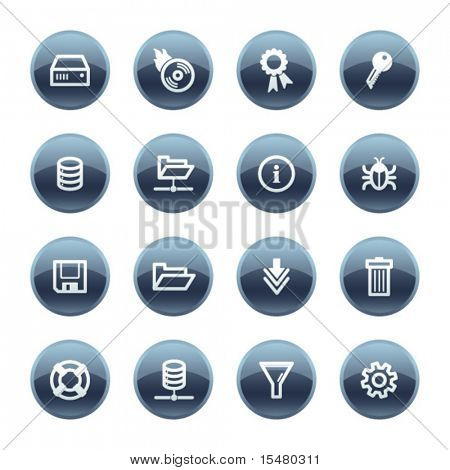 Mineral drop server icons