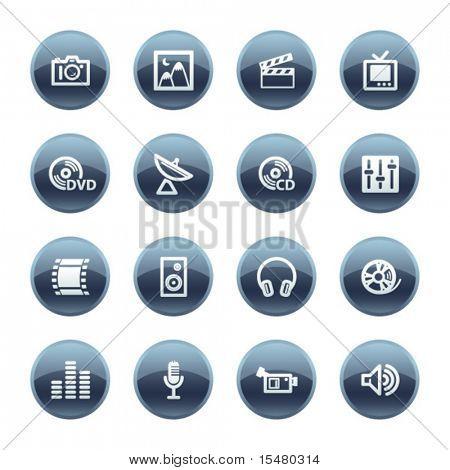 Mineral drop media icons