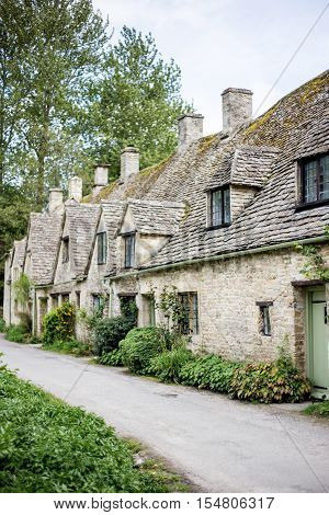 stone houses in bibury, the cotswolds, england