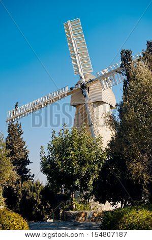 Montifiore mill, Yemin Moshe district, Jerusalem, Israel