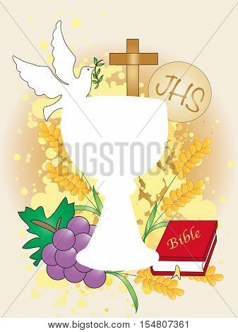 Symbolic illustration for the first communion for children
