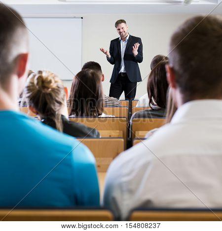 Professor Giving A Speech
