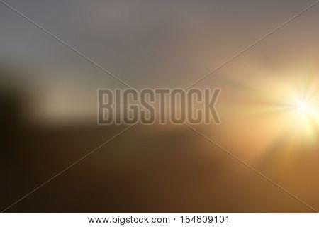 Realistic sunset and sunrise illustration