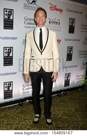 LOS ANGELES - NOV 1:  Neil Patrick Harris at the The Walt Disney Family Museum 2nd Annual Fundraising Gala at Disneys Grand Californian Hotel & Spa on November 1, 2016 in Anaheim, CA