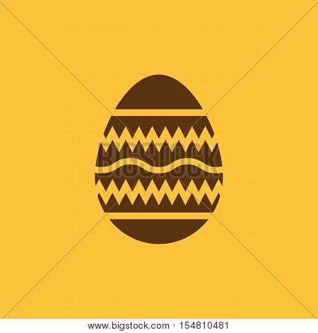 The Easter icon. Easter, egg symbol. UI. Web. Logo. Sign. Flat design. App. Stock vector