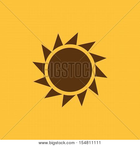 The sunrise icon. Sunrise and sunshine, weather, sun symbol. UI. Web. Logo. Sign. Flat design. App. Stock vector