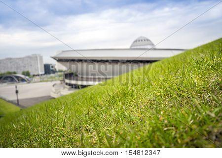 Entertainment Hall Called Spodek In City Center Of Katowice, Poland