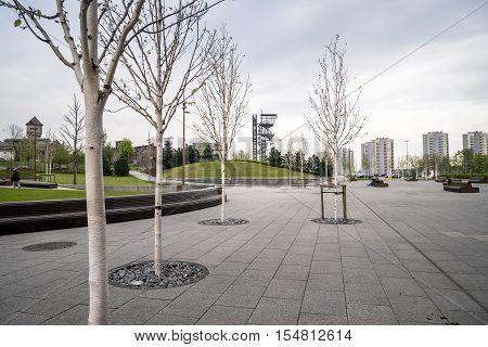 Shaft In City Of Gardens, Katowice, Poland