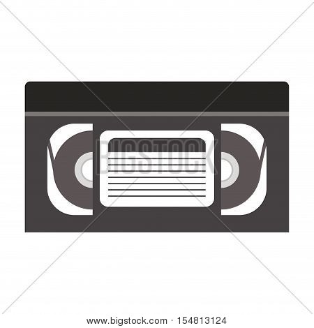 video cassette tape icon over white background. vector illustration