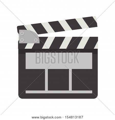 movie clapboard icon. cinema design. vector illustration