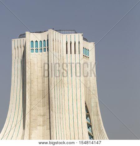 Teheran, Iran - October 03, 2016: Azadi Tower Located At Azadi Square In Teheran City, Iran.