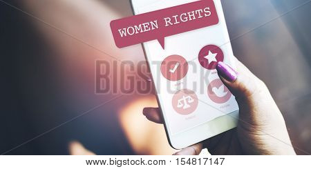 Women Rights Equality Opportunities Fairness Feminism Concept
