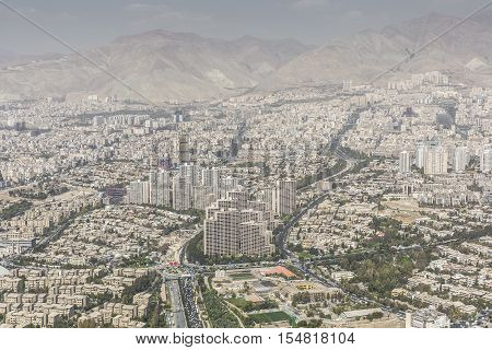 Teheran, Iran - October 05, 2016: View From The Milad Tower In Tehran, Iran.