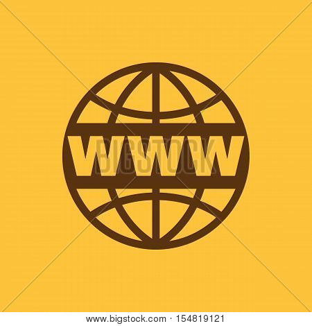 The WWW icon. SEO and browser, development, www symbol. UI. Web. Logo. Sign. Flat design. App. Stock vector