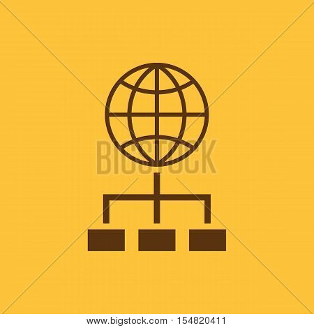 The SEO icon. WWW and browser, development, search, SEO symbol. UI. Web. Logo. Sign. Flat design. App. Stock vector