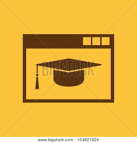 Online education icon. vector design. education symbol. web. graphic. JPG. AI. app. logo. object. flat. image. sign. eps. art. picture - stock vector