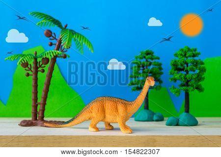 Brachiosaurus dinosaur toy model on wild models background