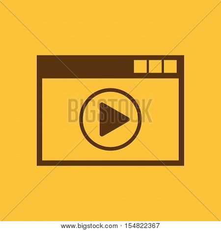 Online player icon. design. online player symbol. web. graphic. JPG. AI. app. logo. object. flat. image. sign. eps. art. picture - stock vector