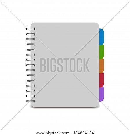 Realistic spiral notebook. Notepad spiral. Vector illustration