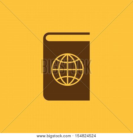 Atlas and globe icon. vector design. Geography, Atlas symbol. web. graphic. JPG. AI. app. logo. object. flat. image. sign. eps. art. picture - stock vector