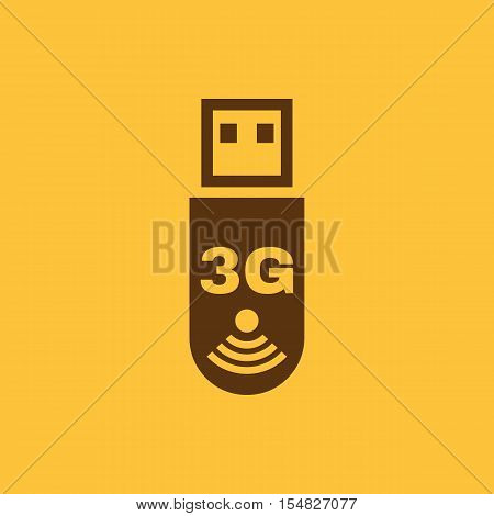 The 3g adapter icon. Transfer and connection, data, 3g symbol. UI. Web. Logo. Sign. Flat design. App. Stock vector