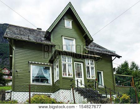 Country house in Norwegian village Olden, Norway