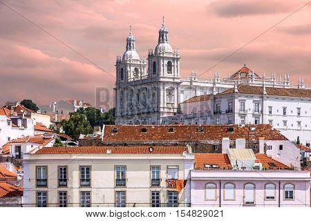 Lisbon, Portugal. Monastery Saint Vicente de Fora
