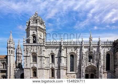 Monastery church of Jeronimos in Lisbon, Portugal
